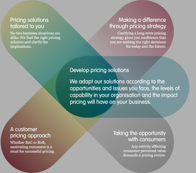 What we do - develop pricing solutions